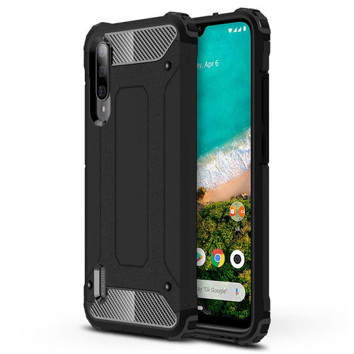 Military Defender Tough Shockproof Case for Xiaomi Mi A3 - Black